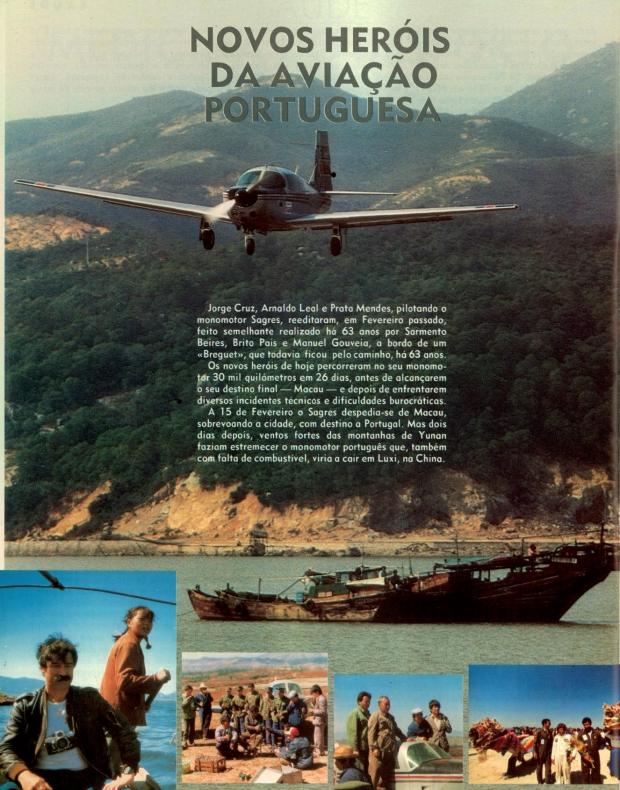 Novos heróis da aviação portuguesa